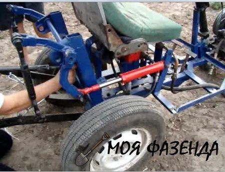Как самостоятельно установить гидравлику на мини-трактор